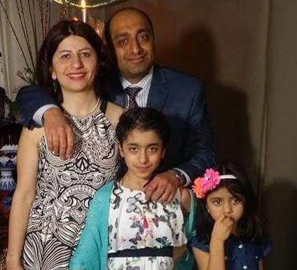 Photo of Pedram Mousavi and his wife, Mojgan Daneshmand.