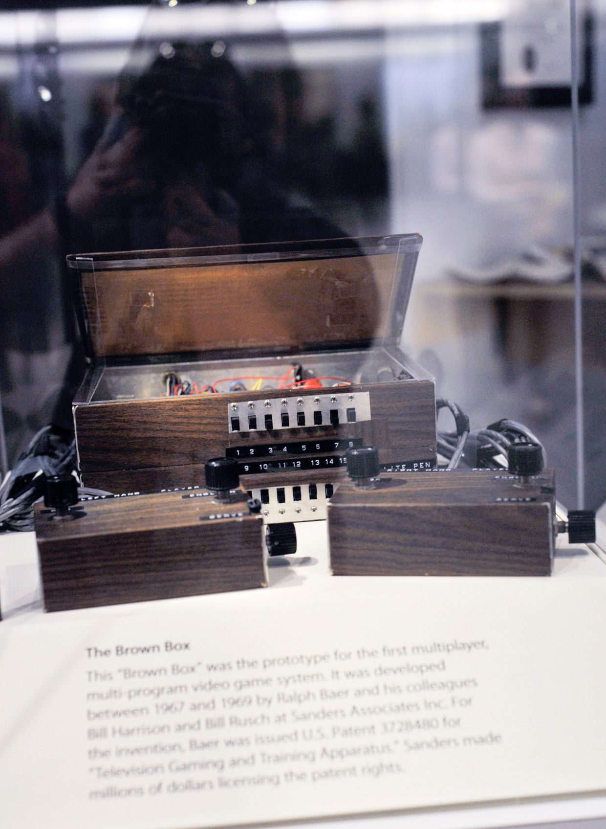 """""""The Brown Box"""" on display at the National Museum Of American History's Innovation Wing in Washington DC."""