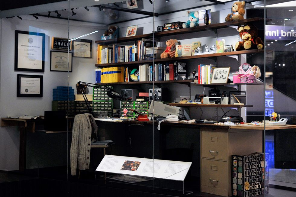 Ralph Baer's workshop on display at the National Museum Of American History's Innovation Wing in Washington DC.