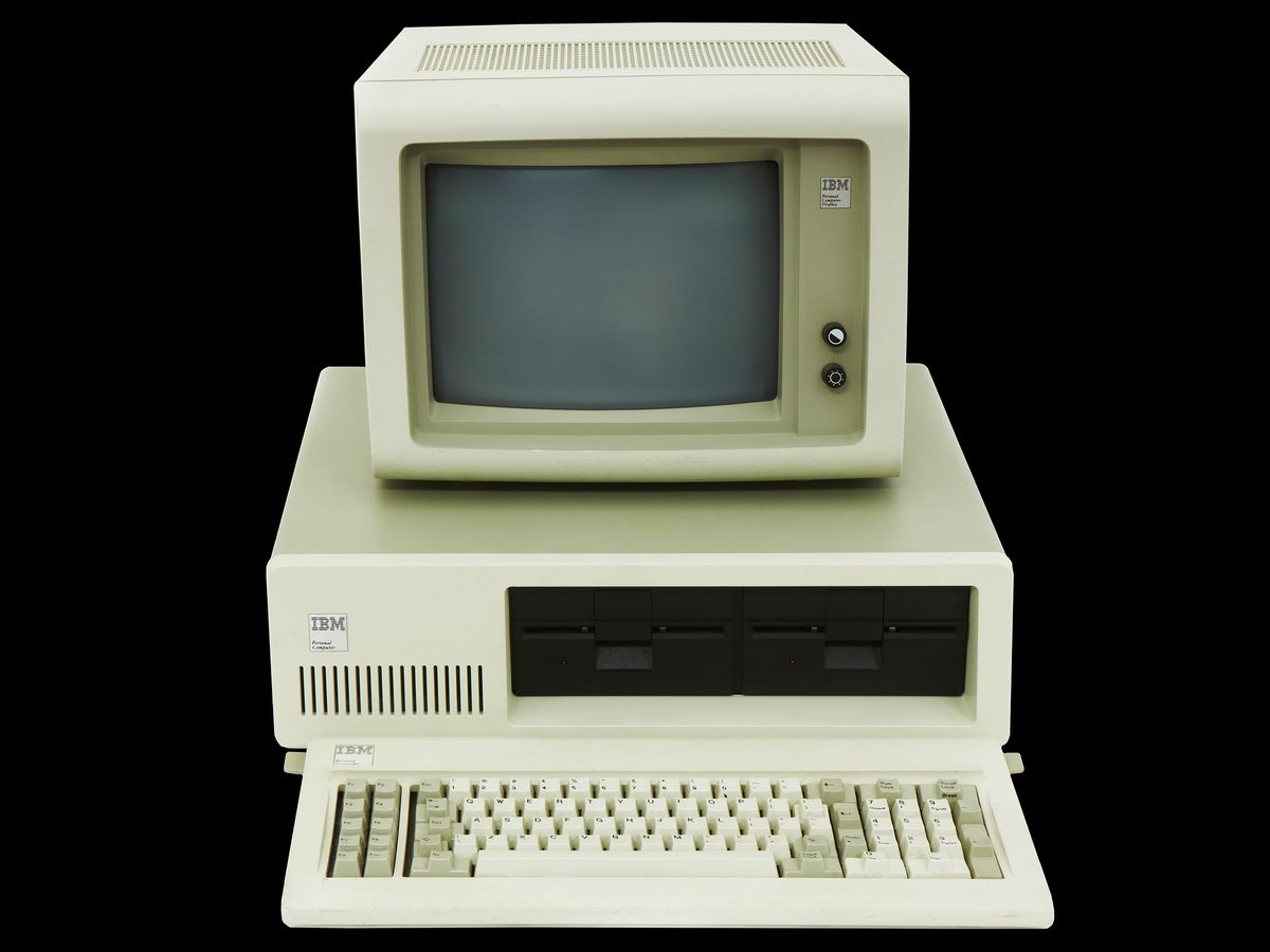 The IBM PC, introduced in August 1981