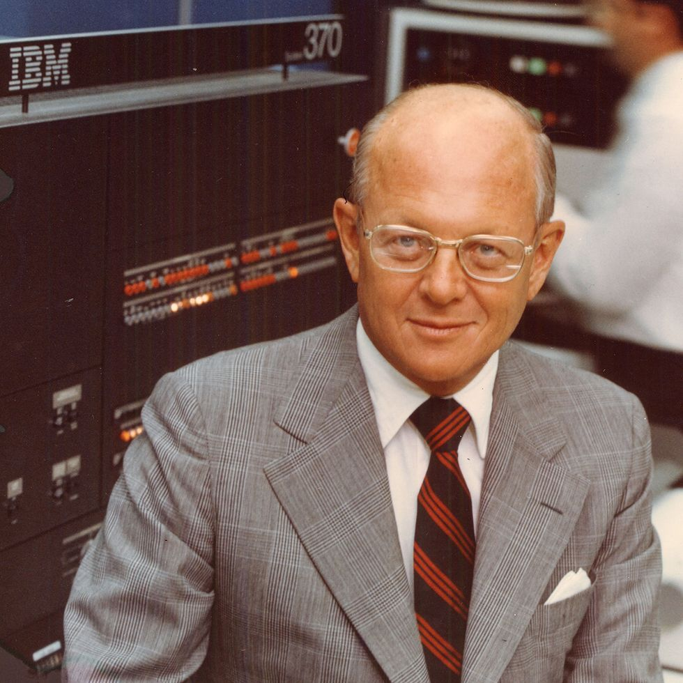 Photo of IBM CEO Frank T. Cary
