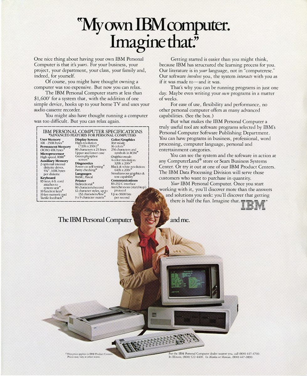 Image of an old IBM ad.