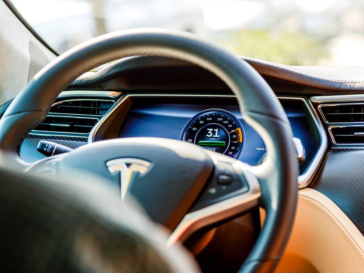 Tesla car interior