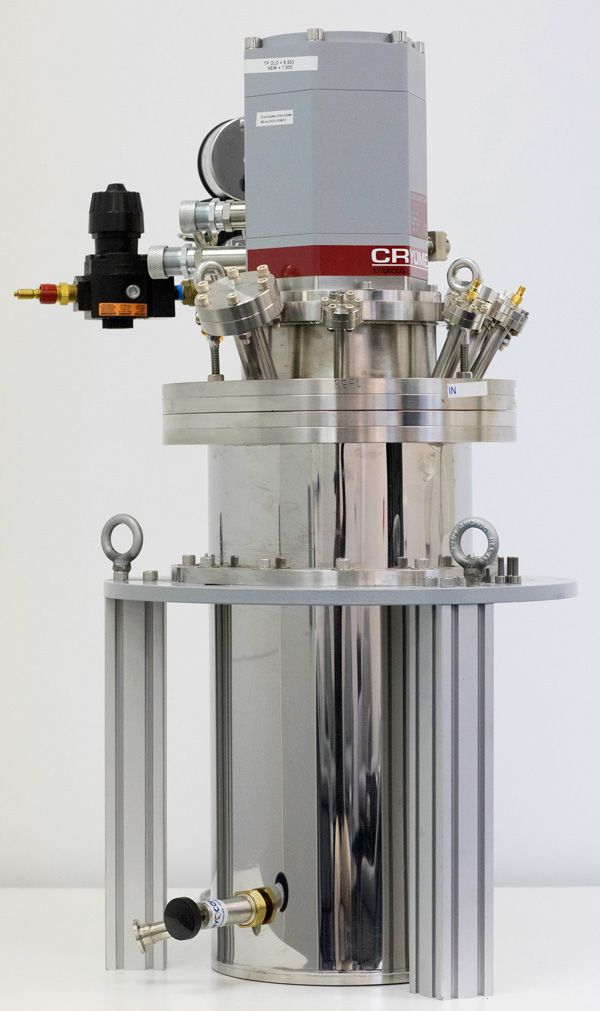 Image of a cryogenic sapphire clock.