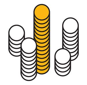 Image of stacked coins.