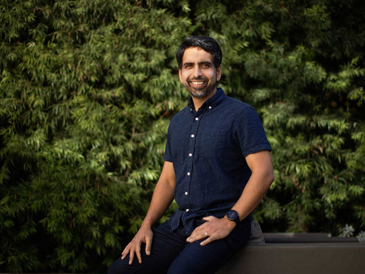 Khan Academy founder Sal Khan poses for a portrait in Mountain View, Calif., on Jan. 14, 2021.