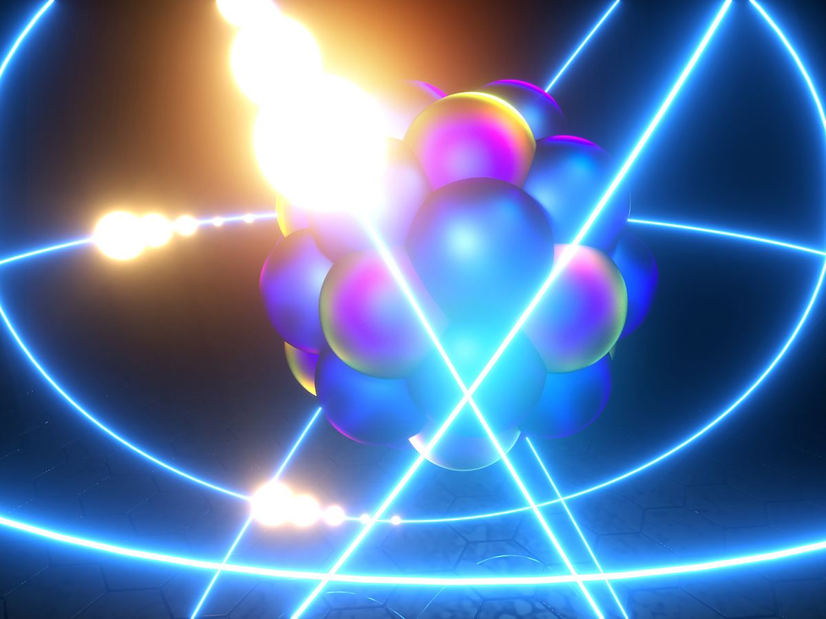 electron with light