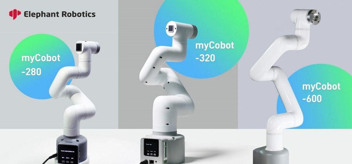 Elephant Robotics' myCobot series of lightweight 6-axis robots