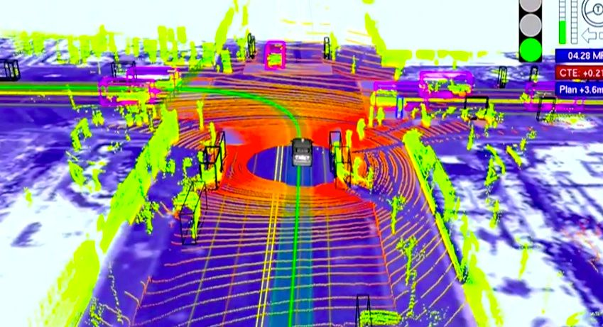 Google's self-driving car uses LIDAR to create 3D image of its surroundings