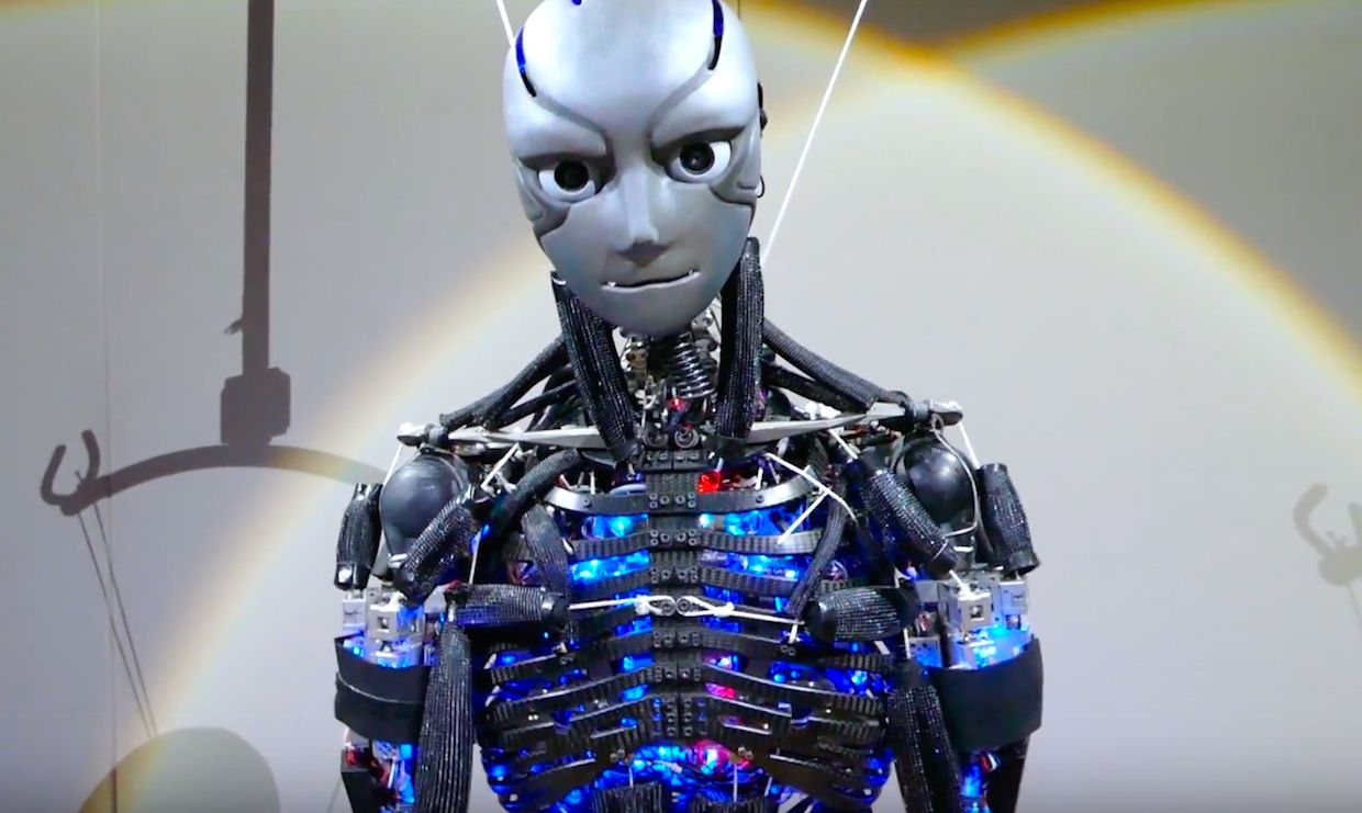 Kengoro humanoid robot that sweats and does push-ups