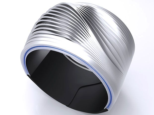 An artist's rendering of EMBR Labs' thermoelectric wearable by Italian designer Niccolo Casas.