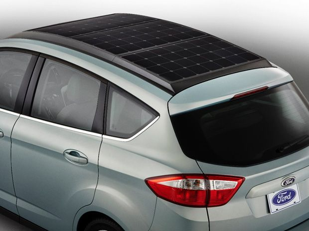 The Ford C Max Solar Energi Concept Car Has Rooftop Panels To Help Its Electric Battery