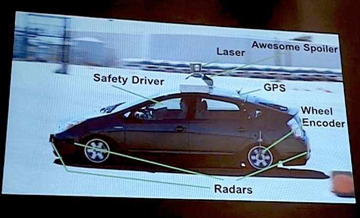 Google's self-driving car sensors