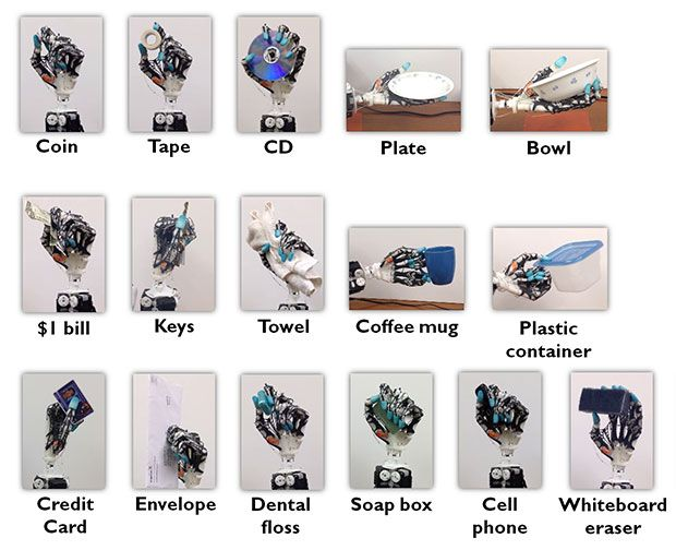 robotic hand diagram