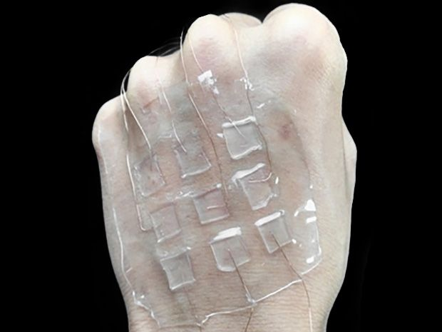 A transparent electronic skin for tactile sensing.