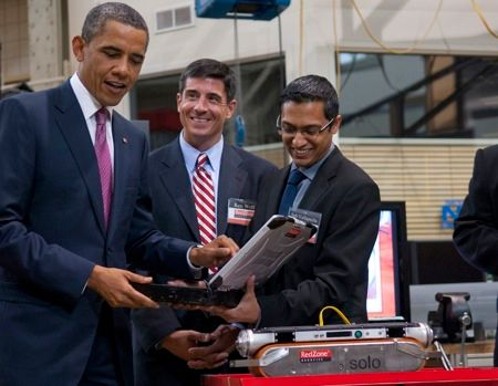 barack obama visit redzone robotics carnegie mellon speech on national robotics initiative