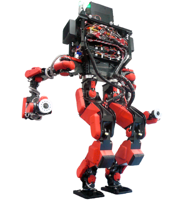 Capacitor-powered water-cooled motors make this humanoid superstrong