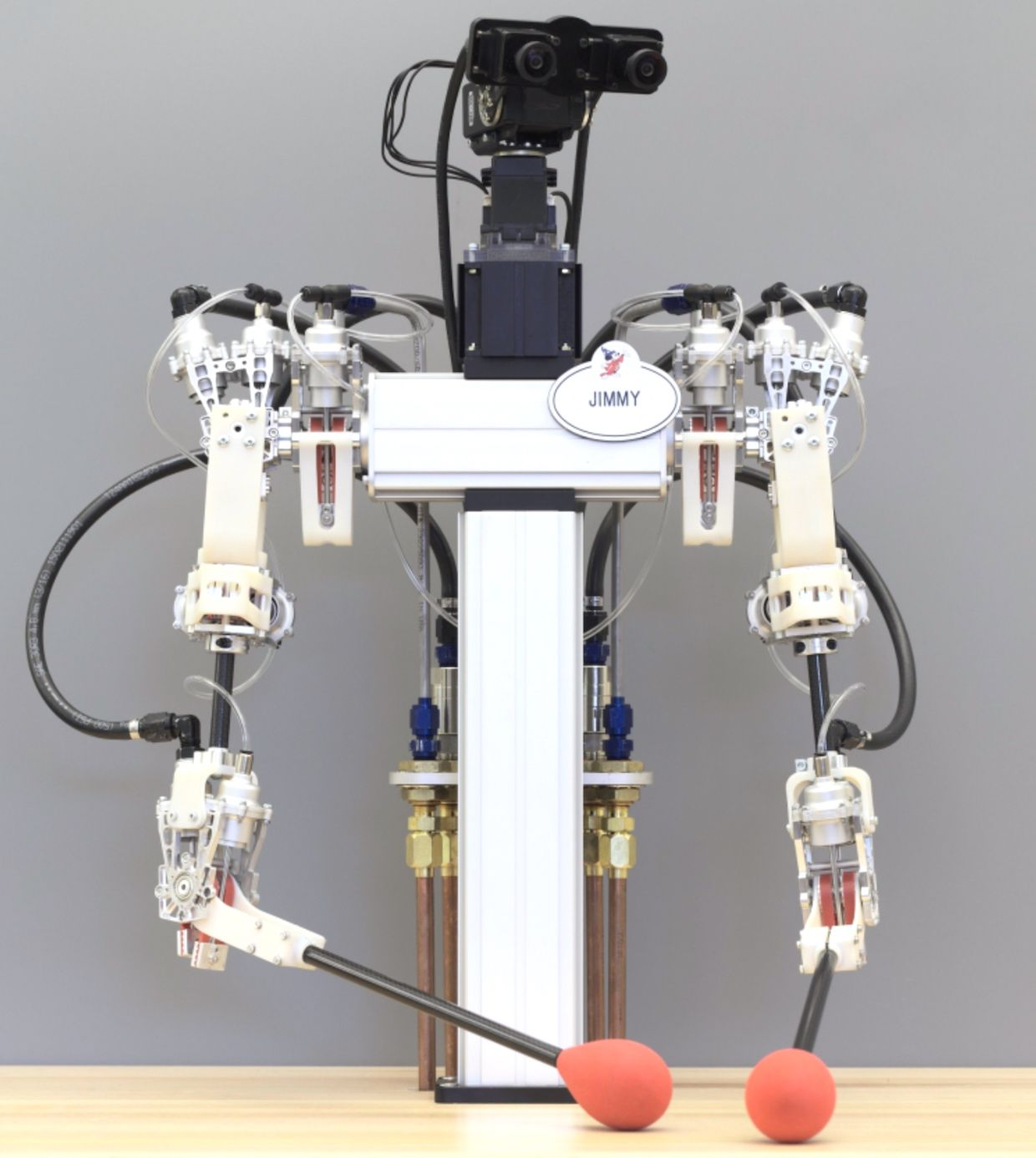 Disney Research's Jimmy, a robot powered by fluid air-water actuators