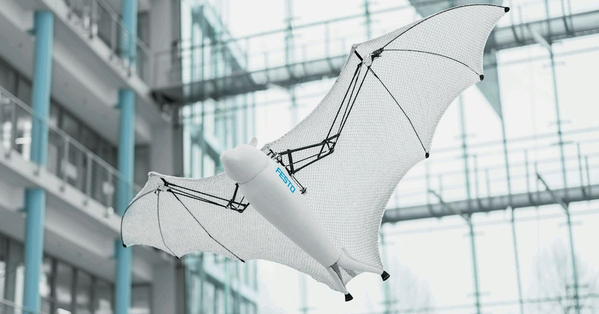 Festo S New Bionic Robots Include Rolling Spider Flying