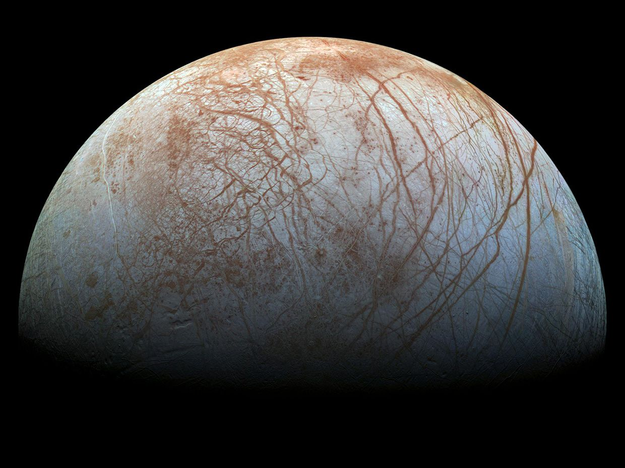 Color image of the icy moon Europa