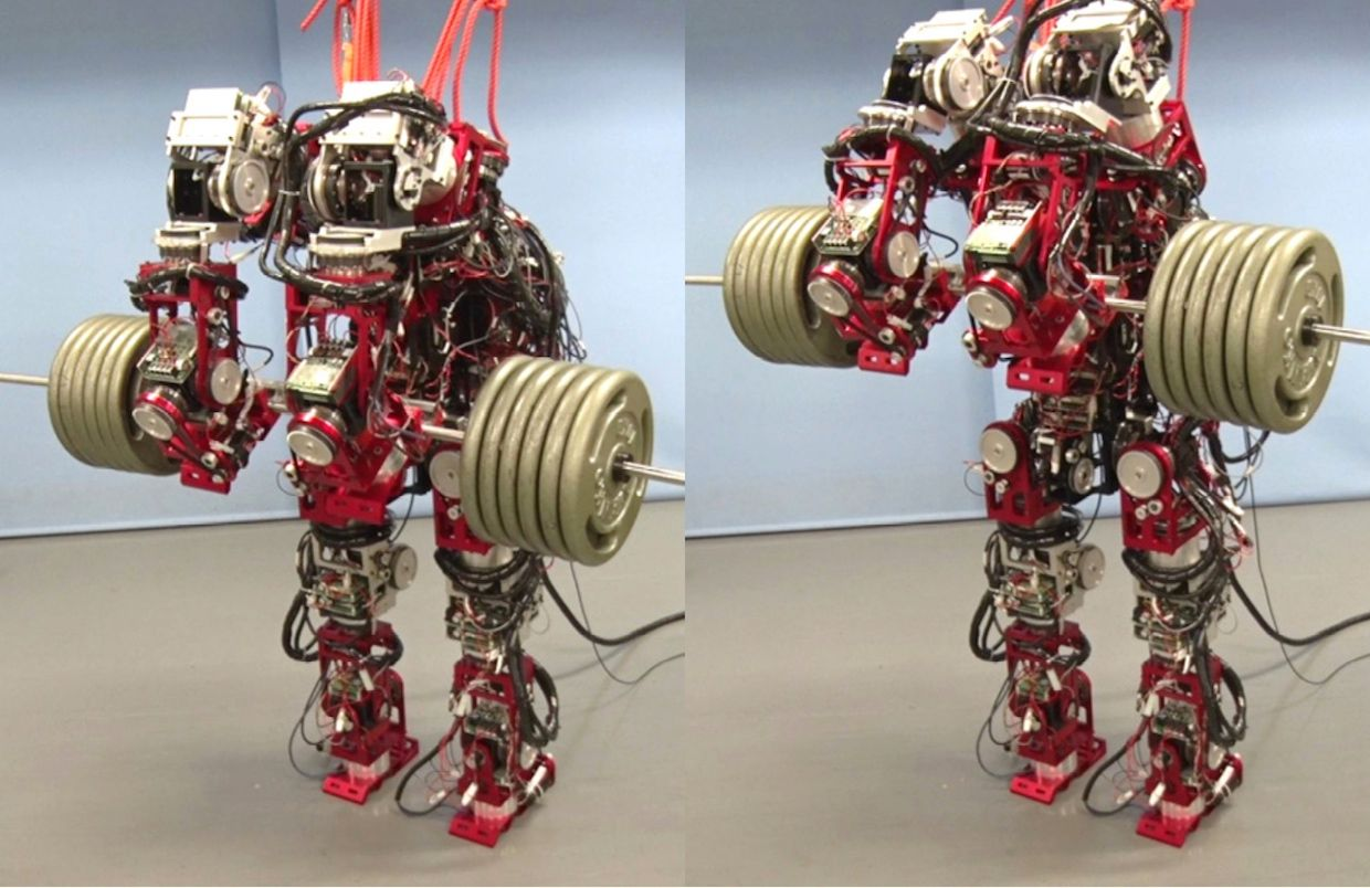 Japanese researchers are developing a disaster-response humanoid robot that can lift 120 kilograms.