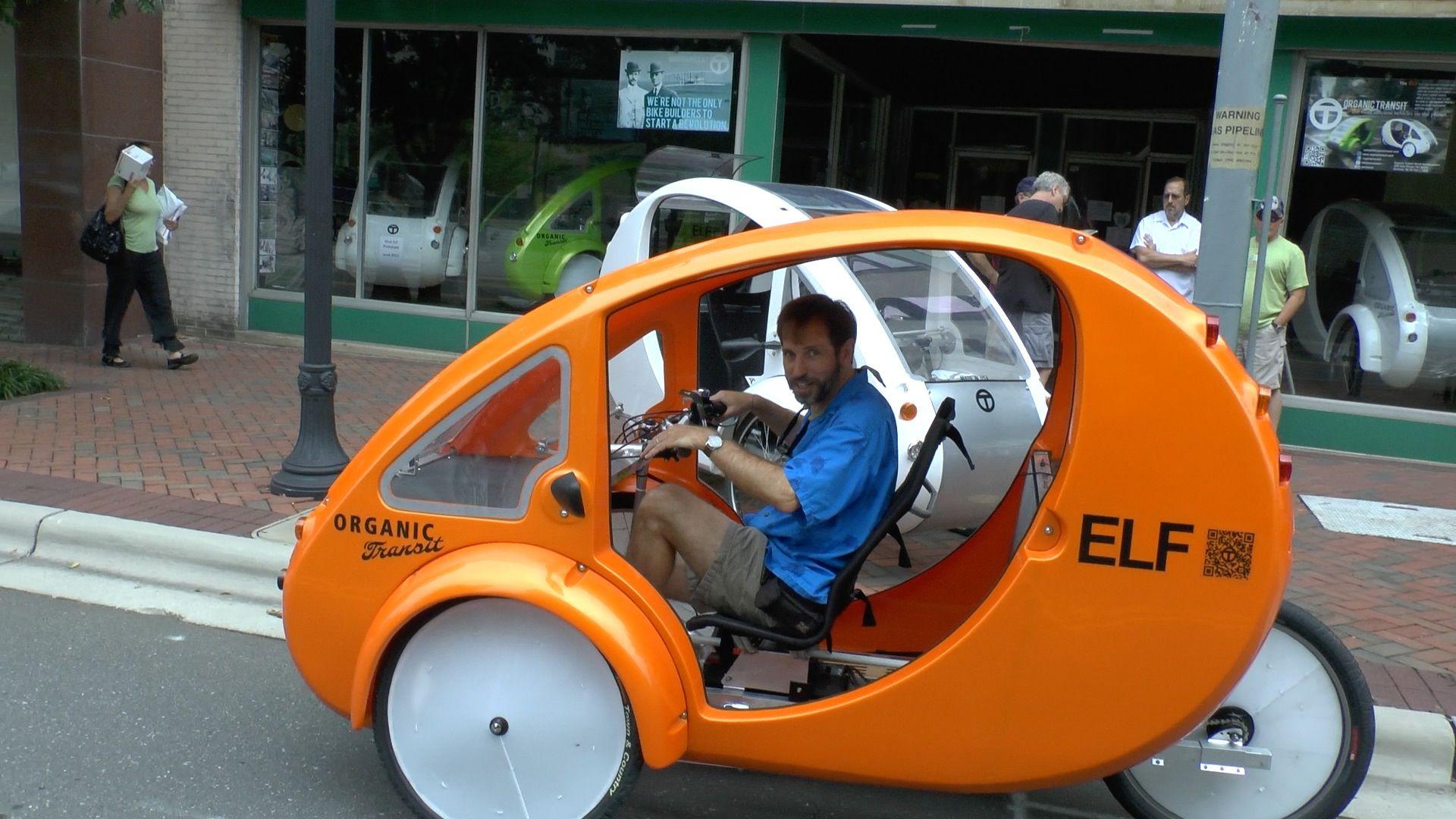 Organic Transit's Enclosed Tricycle Is Half Bike, Half Car