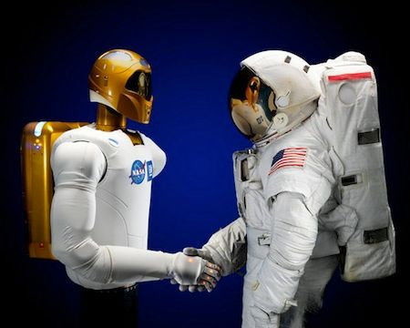 robonaut 2 nasa humanoid robot space shuttle ISS
