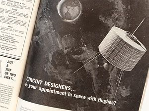 Photo of vintage ad by Hughes Aircraft Co.