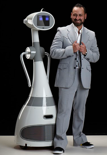 RoboDynamics CEO Fred Nikgohar and Luna Personal Robot
