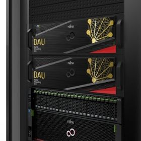 Fujitsu's CMOS Digital Annealer in server racks.