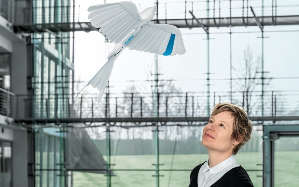 Festo's New Bio-Inspired Robots Include a Feathery Bionic Bird