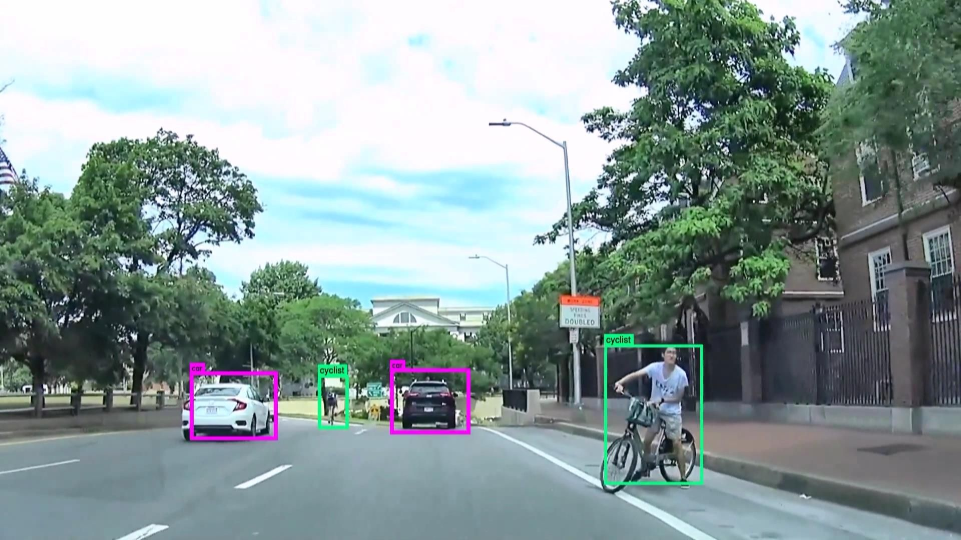 Neurala's AI system can identify pedestrians, cars, cyclists, and trucks in real time.