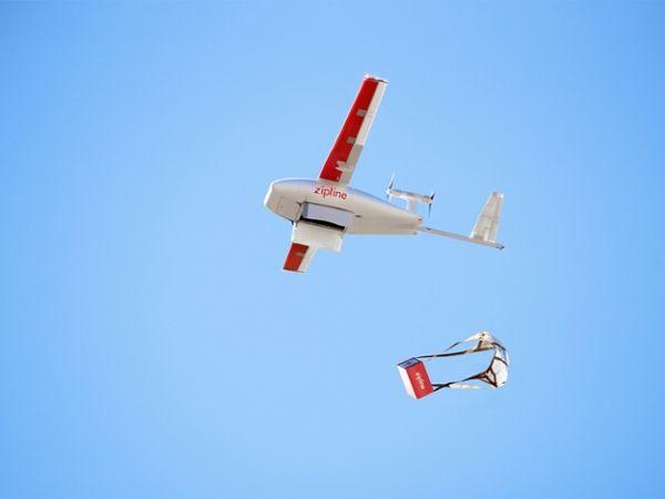 Photo of Zipline or related robot.