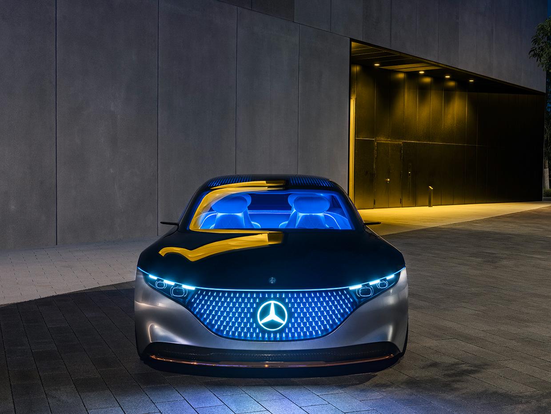 Mercedes Unveils Its Vision EQS Electric Super Car
