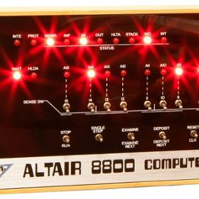 The Altair 8800 Computer.
