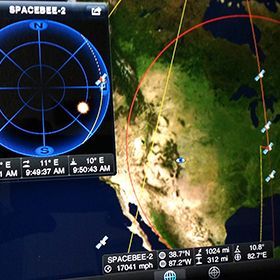 Amateur satellite watcher Mike Coletta is keeping an eye out for possible SpaceBee transmissions.