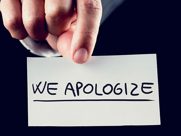 how to say sorry for the inconvenience