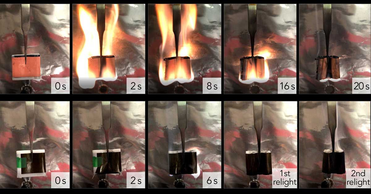 The Lithium-Ion Battery With Built-In Fire Suppression