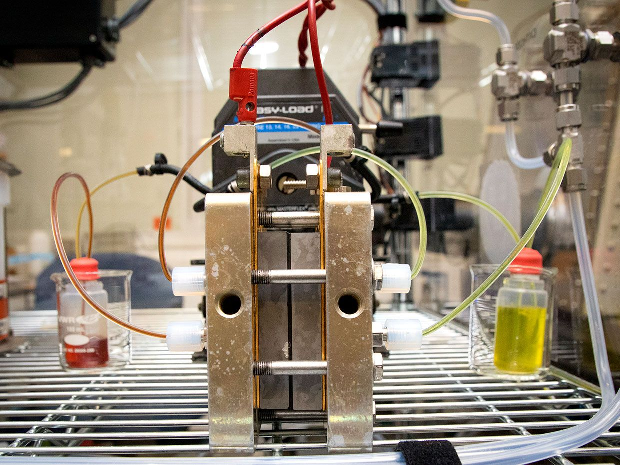 Harvard's new liquid battery that uses a so-called Methuselah molecule.