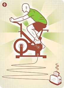 stationary bicycle illustration
