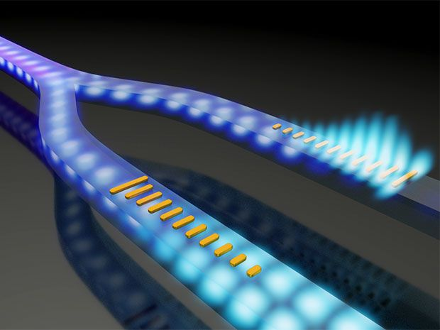 Artistic illustration of a photonic integrated device