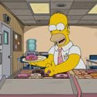 Still of cartoon character Homer Simpson selecting a donut