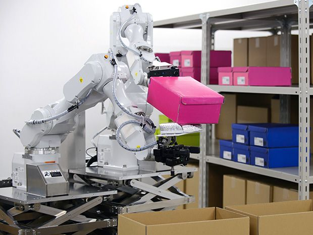Hitachi Developing Dual Armed Robot For Warehouse Picking