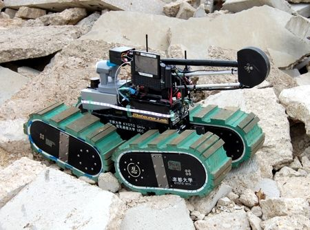KOHGA3 search and rescue robot japan earthquake