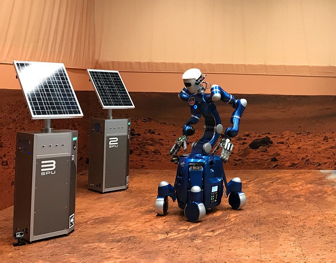 ISS Astronauts Operating Remote Robots Show Future Of