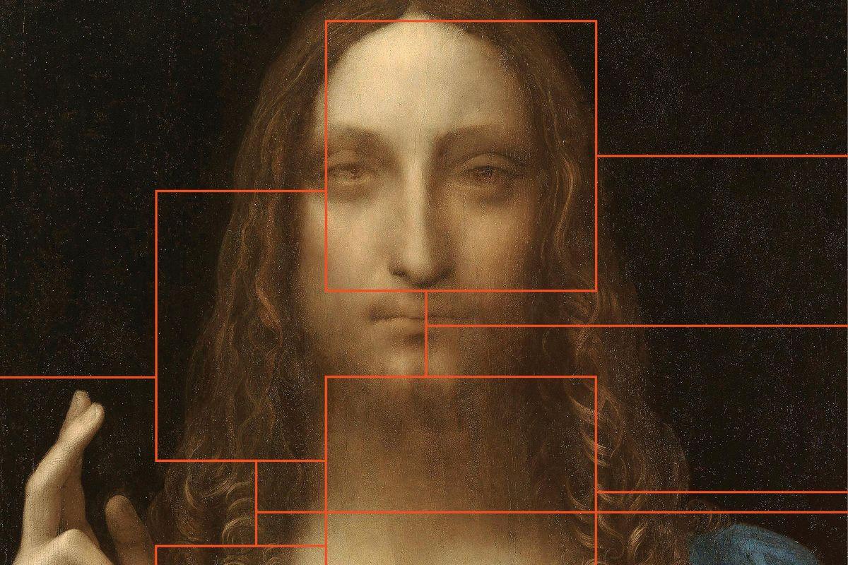 The image of Leonardo da Vinci's Salvator Mundi