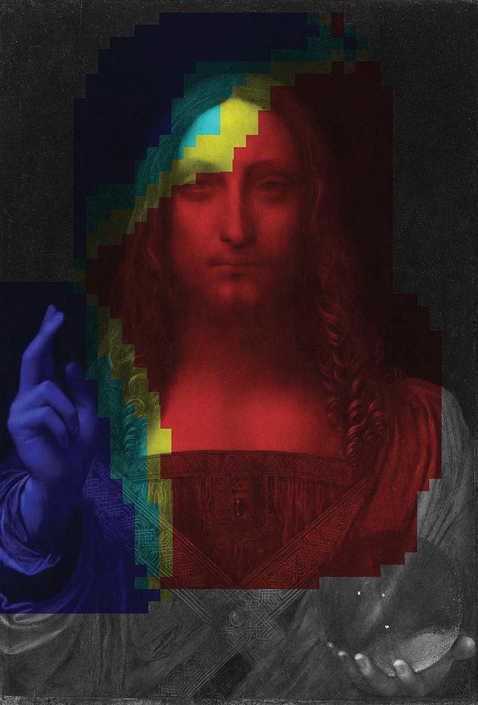 A probability of Leonardo's Salvator Mundi.