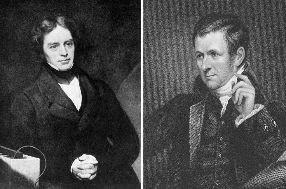 Images of Faraday and Davy
