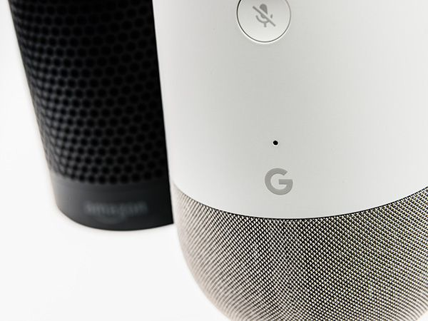 Google Home and Amazon Echo smart speakers