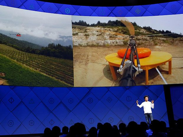 Facebook's Yael Maguire explains the company's Tether-tenna, a helicopter and cable system to replace traditional cell phone antennas